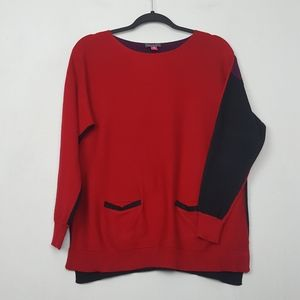 Vince Camuto Color Block Sweater Size PM